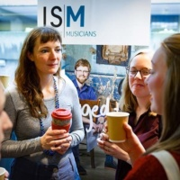 Musicians talking at an ISM event