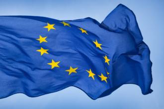 EU Flag in wind