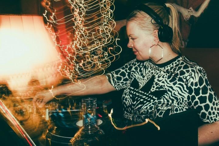 Raisa DJing