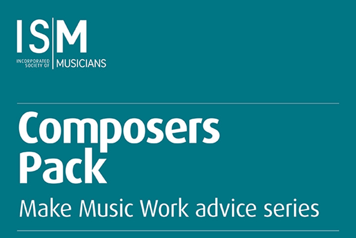 Composer pack cover plain teal with white letters