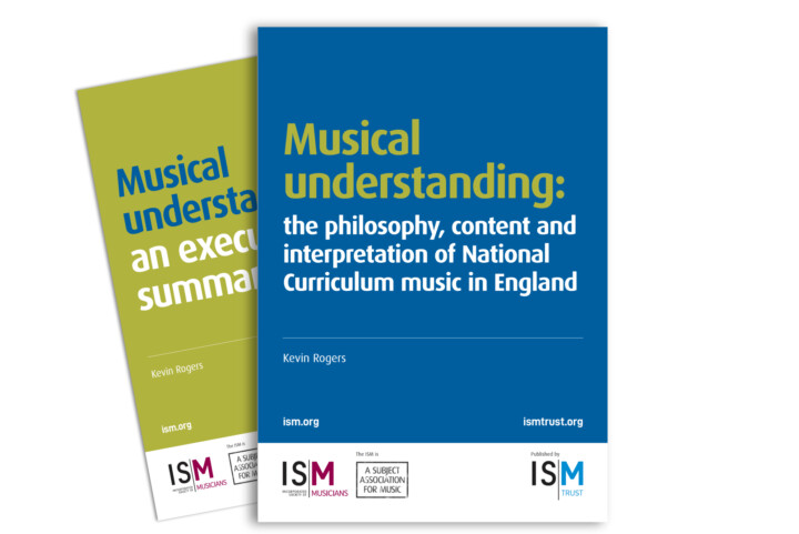Two overlapping covers. Blue foreground cover for the main Musical Understanding brochure, the green background cover is for the Executive Summary.