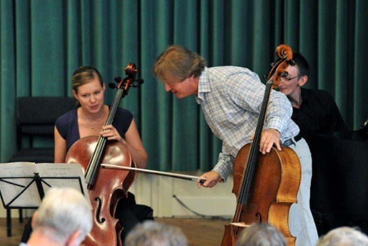 Cello masterclass with teacher