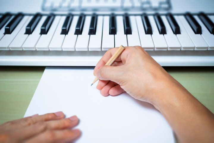 Composer with keyboard