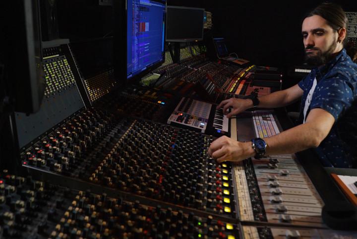 Man in a studio