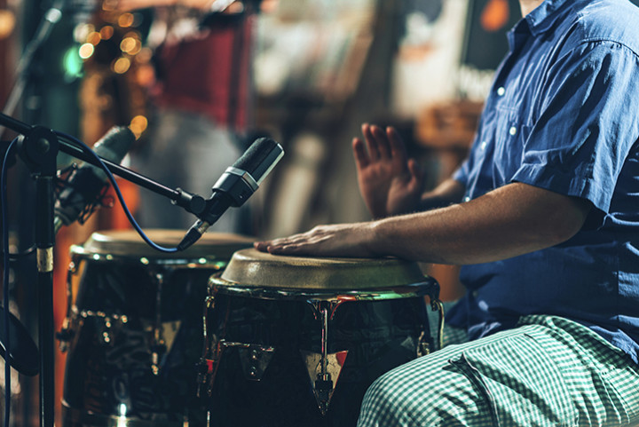 musicians playing congas
