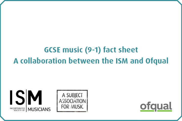 Title text and ofqual logo and ISM subject association stamp