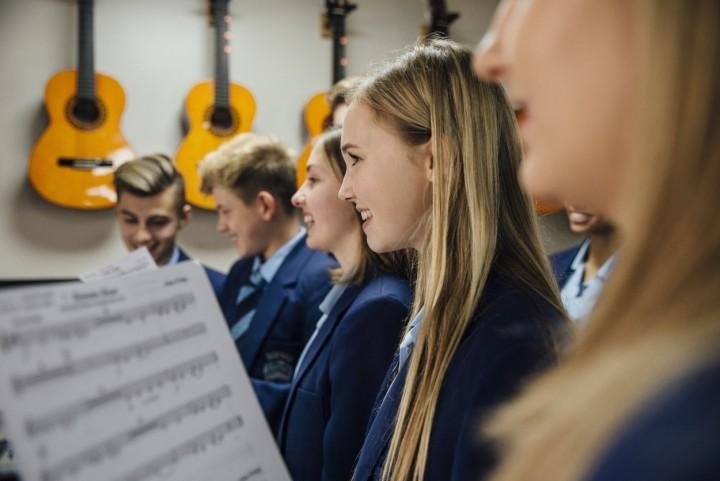 Secondary music class