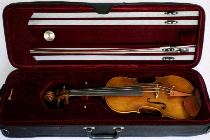 Thumbnail image of a violin in a flight case