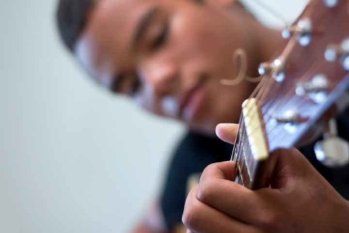 young male guitarist