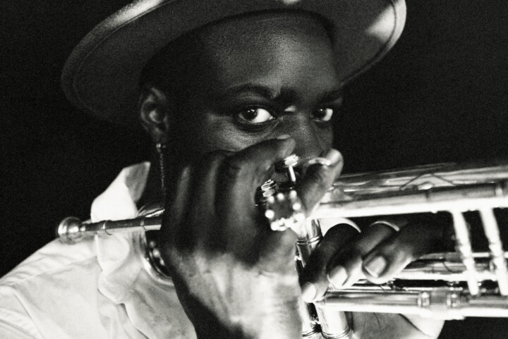 A jazz trumpeter