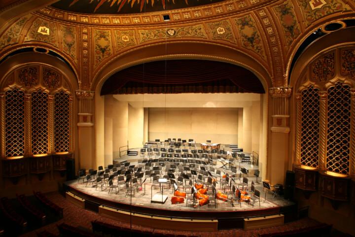 empty concert hall
