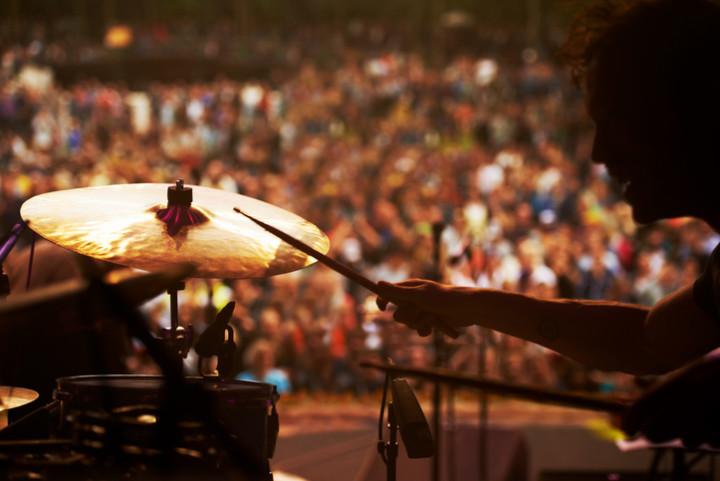 Drummer at festival