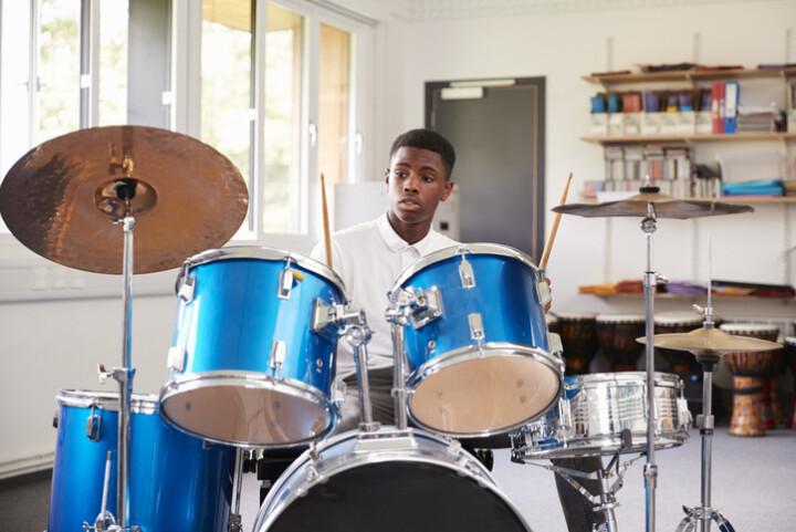 boy drumming