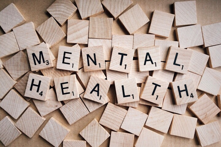 wooden blocks saying mental health