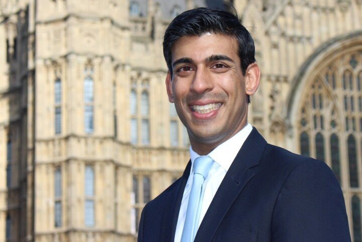 Rishi Sunak outside Parliament.