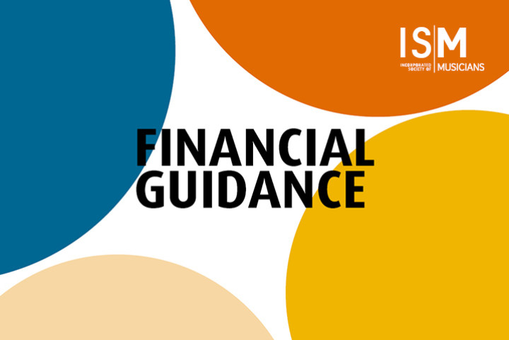 Words Financial guidance on a background of coloured dots