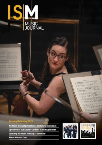 Violinist cover of January/February Music Journal