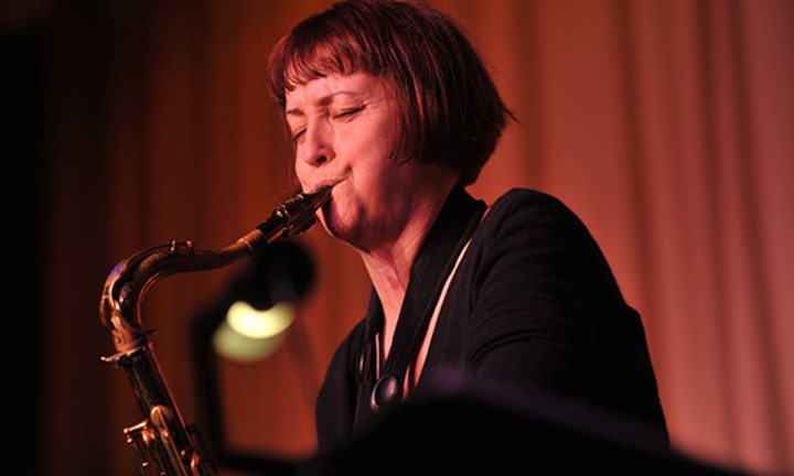 Female saxophonist