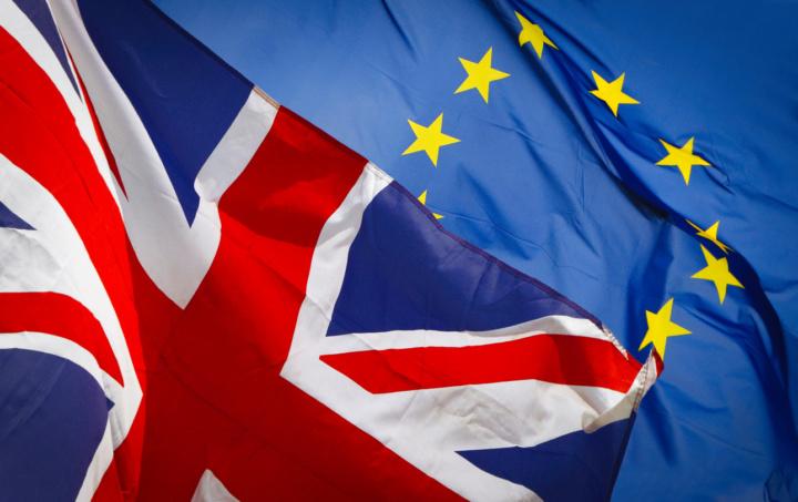 EU flag/ Union flag.