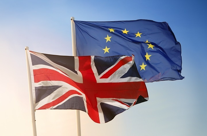 EU and Union flag