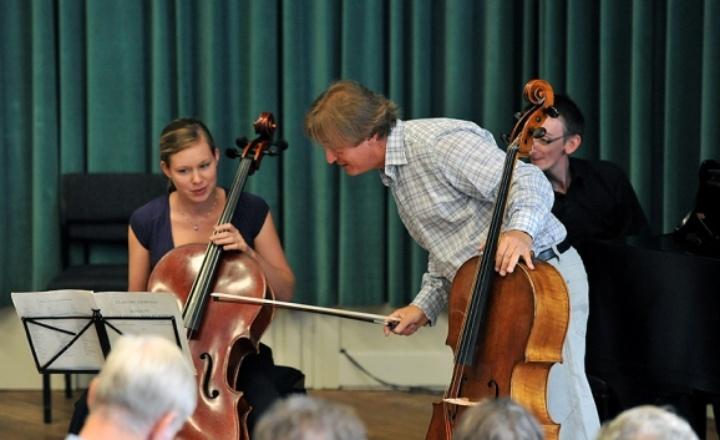 Cello masterclass with teacher