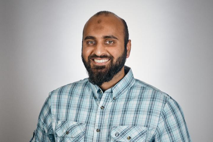 Musa Kazmi blue shirt