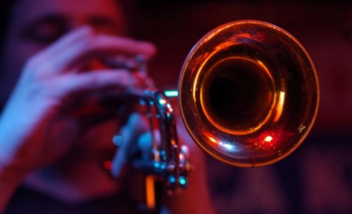 Jazz trumpeter performing