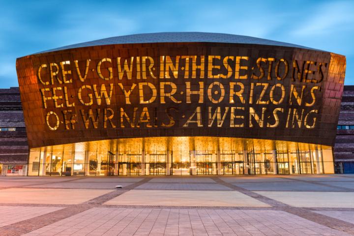 The Millennium Centre in Cardiff