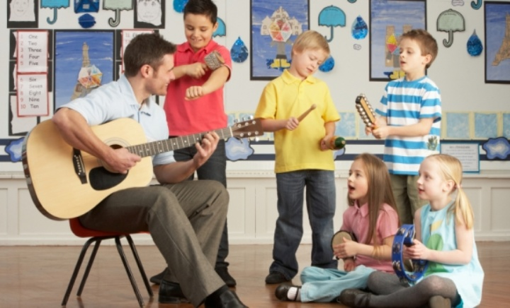 Music being taught in class