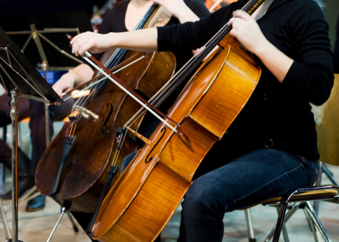 cello section performing