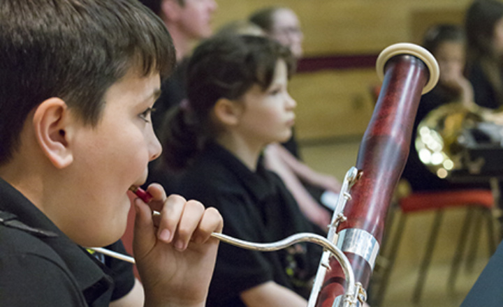 Children playing the bassoon