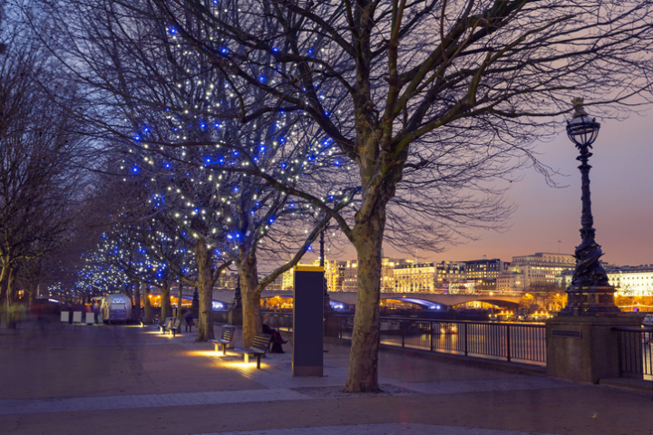 The Southbank in London, empty at Christmas