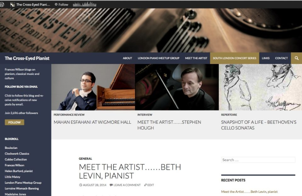 People tell me my blog now puts me at the heart of the UK classical